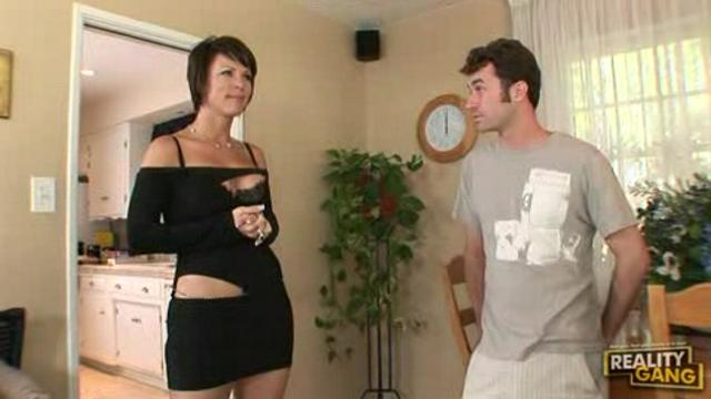 two dick for beautiful brunette on order